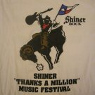 SHINER SHIRT robert earl keen joe ely ray wylie hubbard marcia ball 1994 texas L