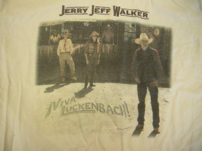 JERRY JEFF WALKER SHIRT Viva Luckenbach birthday weekend concert gonzo compadres texas L RARE