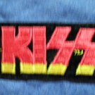 KISS iron-on PATCH rec yellow/red logo VINTAGE