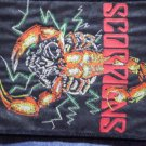 SCORPIONS sew-on PATCH skull big VINTAGE