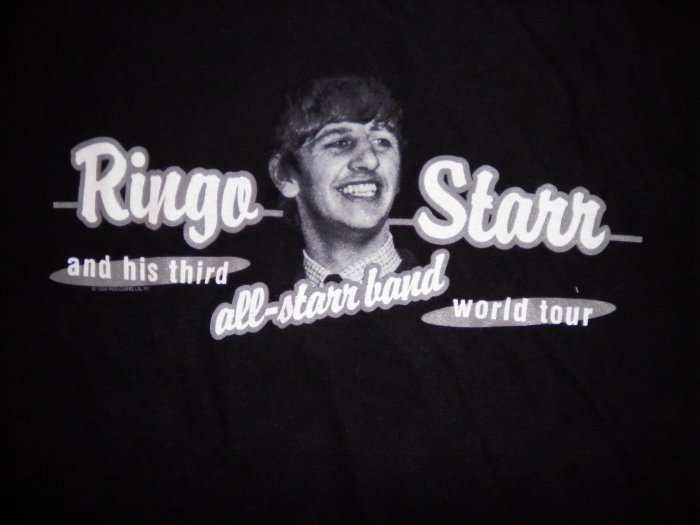 RINGO STARR TOUR SHIRT 3rd all band john entwistle mark farner beatles XL