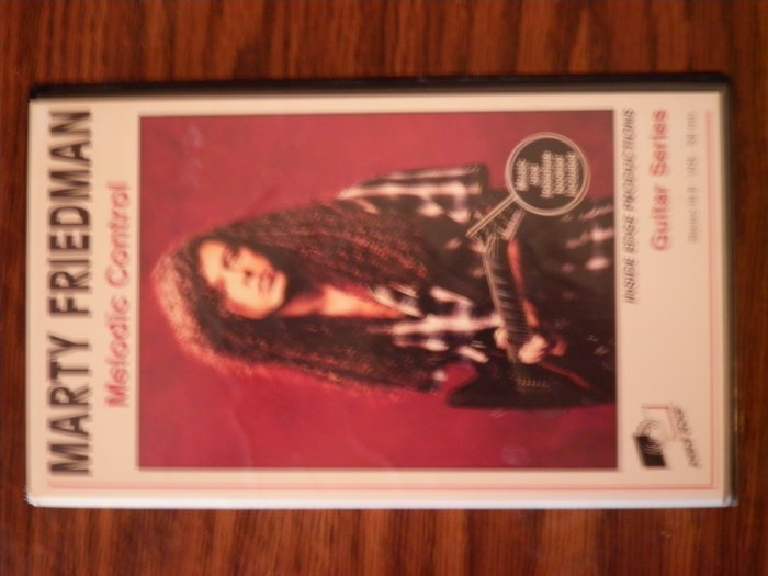 VHS MARTY FRIEDMAN Melodic Control megadeth guitar instructional
