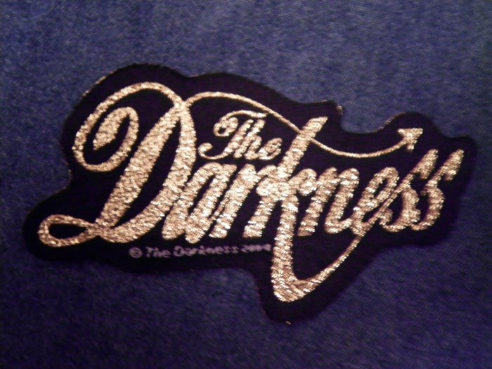 THE DARKNESS sew-on PATCH gold logo thin IMPORT