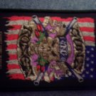 GUNS N ROSES sew-on PATCH skull & flag import NEW