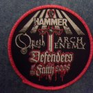 OPETH ARCH ENEMY sew-on PATCH Defenders Of The Faith 2008 Tour metal hammer IMPORT SALE