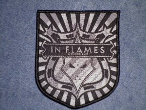 IN FLAMES sew-on PATCH badge logo import NEW