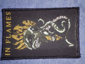 IN FLAMES sew-on PATCH demon logo import NEW