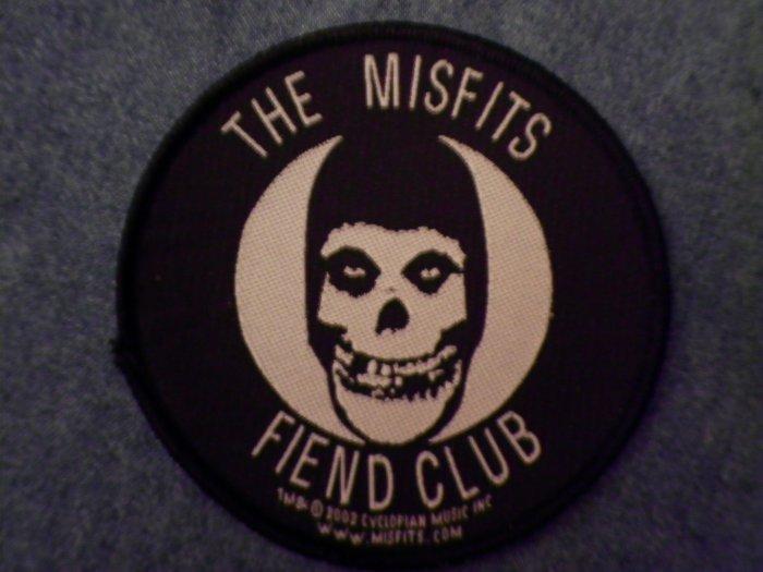 MISFITS sew-on PATCH Fiend Club round danzig import NEW