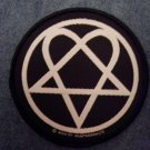 H.I.M. sew-on PATCH heartagram round him import NEW