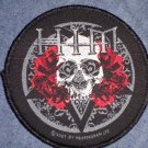 H.I.M. sew-on PATCH skull & roses round him import NEW