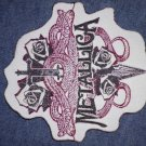 METALLICA sew-on PATCH sword & snakes logo thin IMPORT