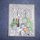 KORN sew-on PATCH cartoon straight jackets import NEW