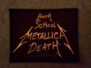METALLICA sew-on PATCH Birth School Death IMPORT