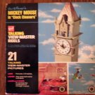 TALKING VIEW-MASTER REELS Mickey Mouse clock cleaners disney gaf VINTAGE