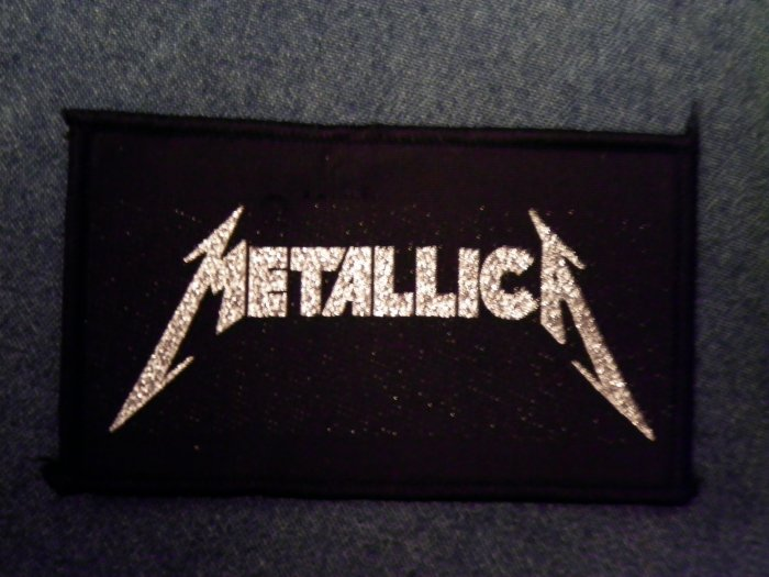 METALLICA sew-on PATCH silver glitter IMPORT