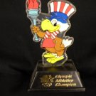 SAM THE EAGLE Olympic Athletics Champion stature figure 1980 VINTAGE