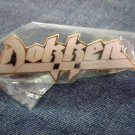 DOKKEN METAL PIN gold/white enamel badge VINTAGE