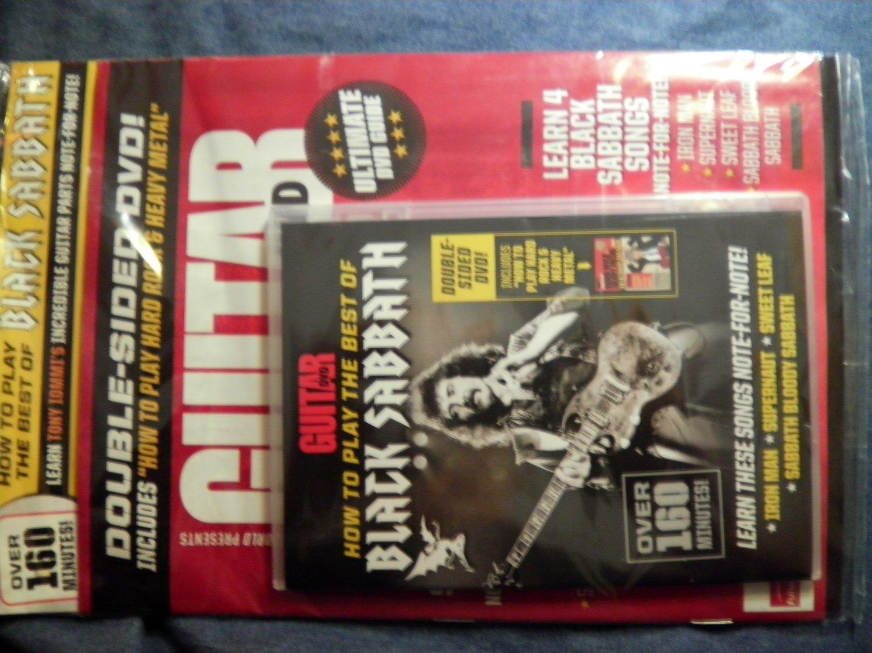 DVD GUITAR WORLD magazine Black Sabbath instructional bass ozzy 160min TAB