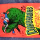 DINOSAURS ATTACK TRADING CARDS 1988 sticker SEALED PACK