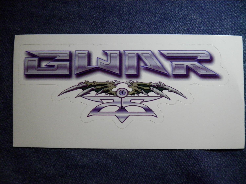 GWAR STICKER 25th Anniversary logo HTF