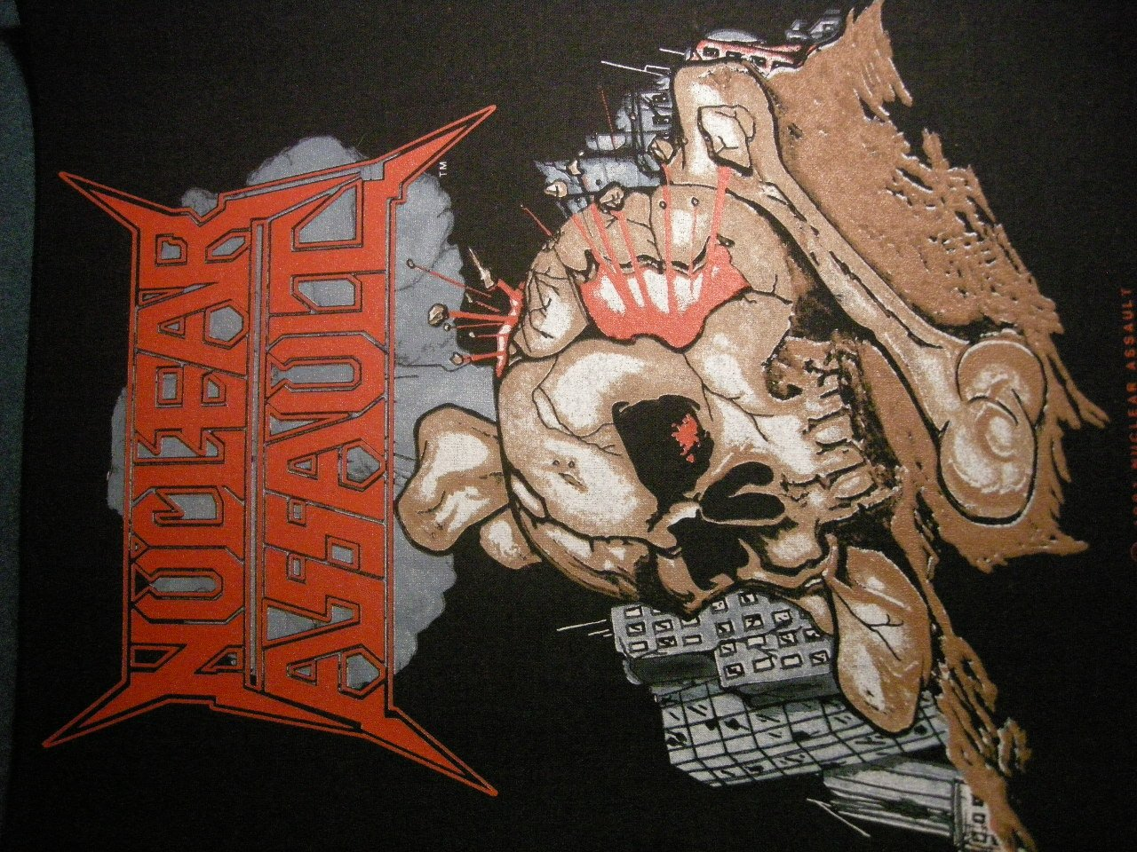 NUCLEAR ASSAULT BACKPATCH holocaust skull patch IMPORT