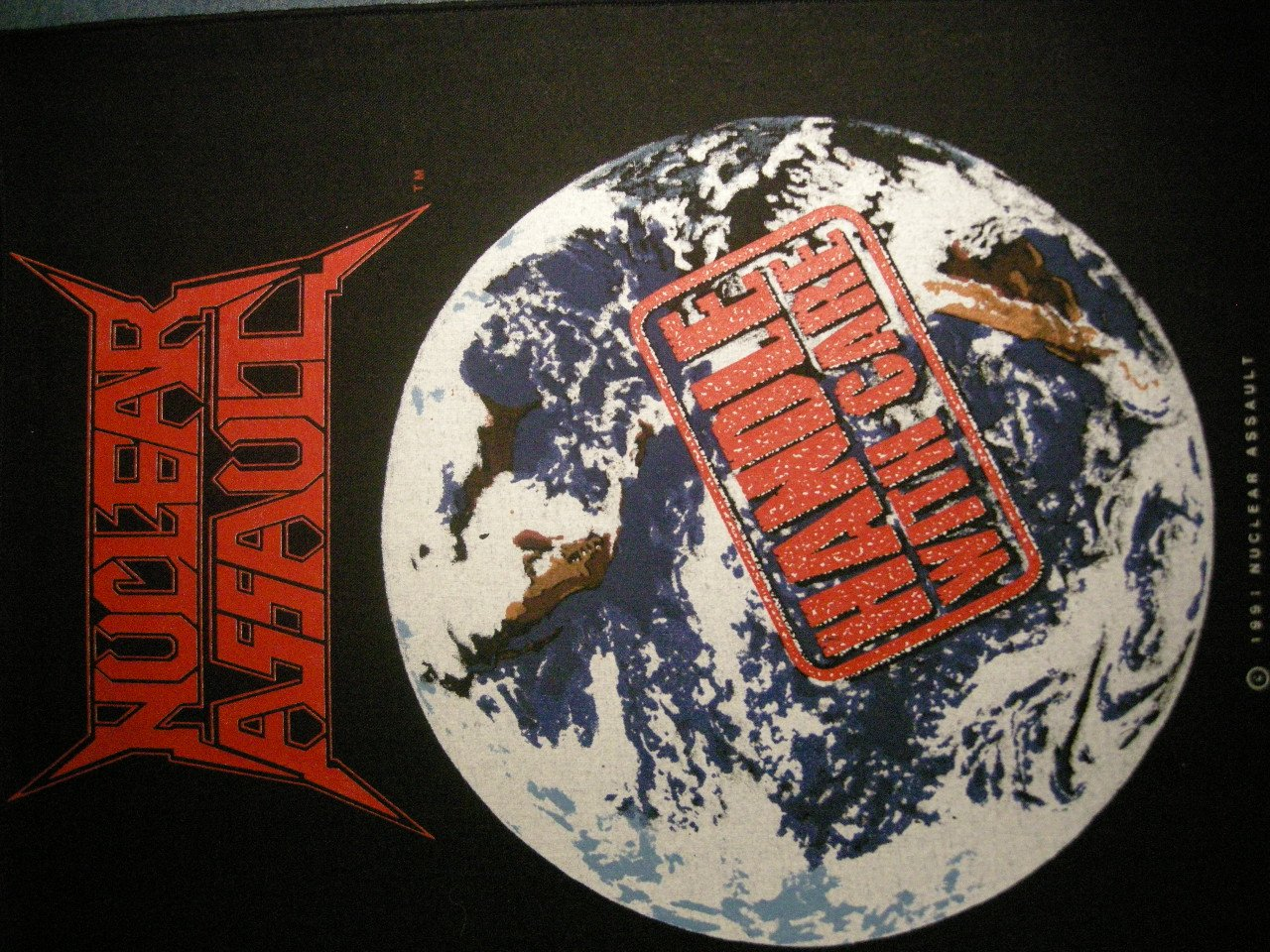 NUCLEAR ASSAULT BACKPATCH Handle With Care patch IMPORT