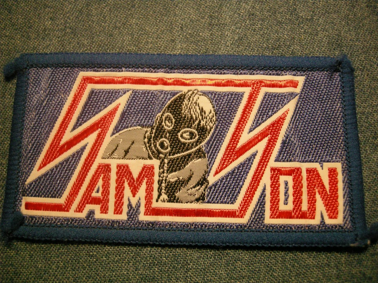 SAMSON sew-on PATCH iron maiden thundersticks VINTAGE