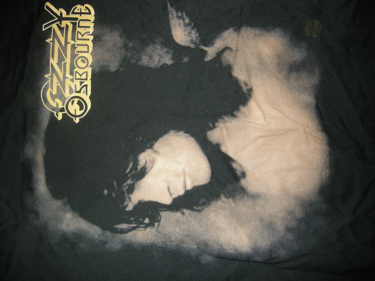 OZZY OSBOURNE SHIRT No More Tours 1992 zakk wilde L VINTAGE