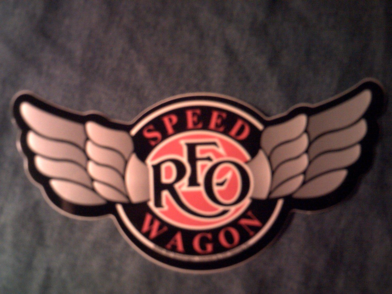 REO SPEEDWAGON STICKER wings logo SCARCE