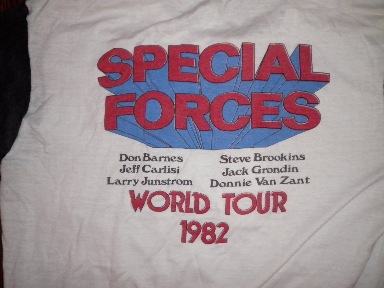 38 SPECIAL SHIRT Special Forces World Tour 1982 lynyrd skynyrd button collar JERSEY L VINTAGE
