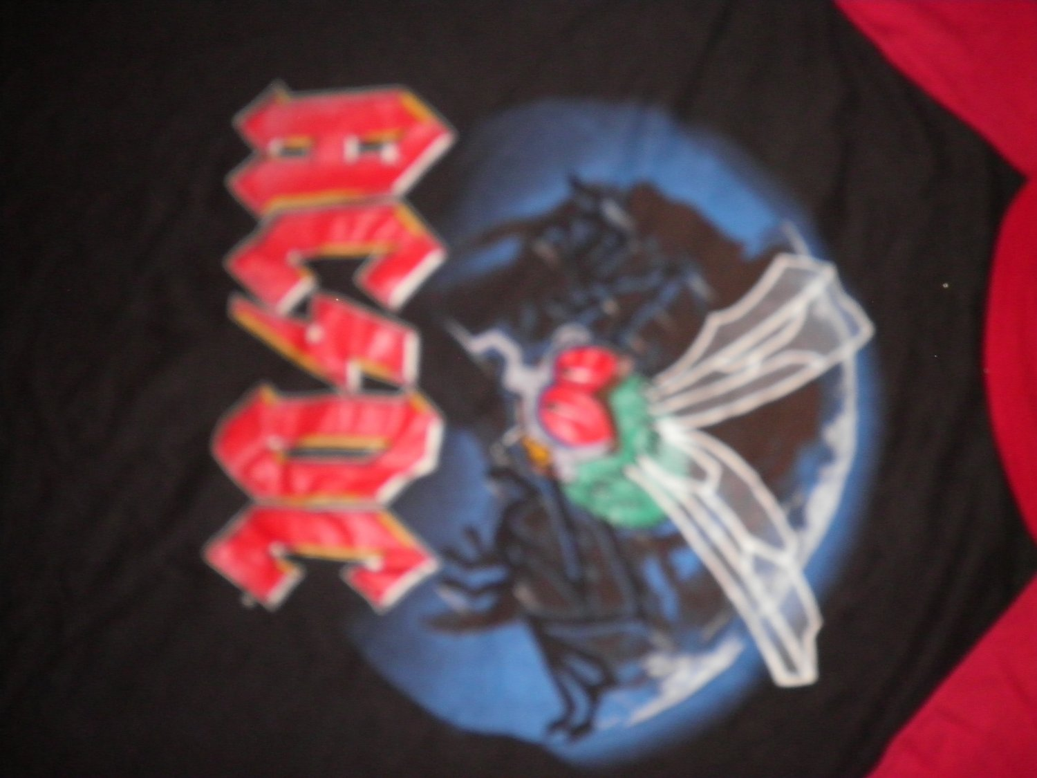 AC/DC TOUR SHIRT Fly On The Wall 1985 acdc black/red JERSEY L VINTAGE