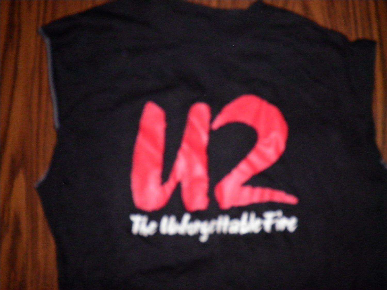 U2 SHIRT The Unforgettable Fire cutoff L VINTAGE SALE