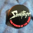 SAVATAGE PINBACK BUTTON The Power Of The Night VINTAGE