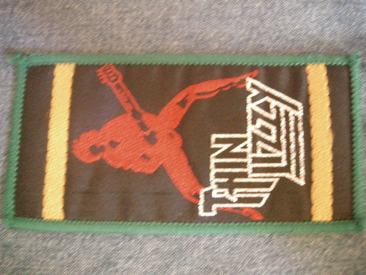 THIN LIZZY sew-on PATCH multicolor logo phil VINTAGE