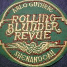 ARLO GUTHRIE sew-on PATCH Rolling Blunder Revue shenandoah VINTAGE