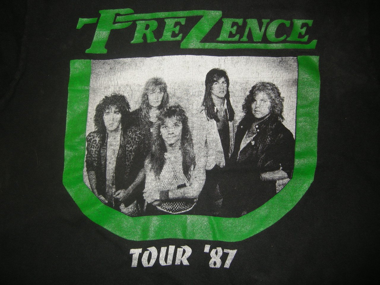 PREZENCE SHIRT 1987 Tour shawn sahm texas metal XL VINTAGE MEGA RARE