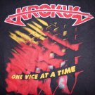 KROKUS SHIRT One Vice At A Time World Tour 1982 M VINTAGE
