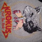 KROKUS SHIRT Headhunter World Tour 1983 eat the rich wolf JERSEY M VINTAGE