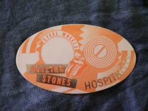THE ROLLING STONES BACKSTAGE PASS Steel Wheels Tour hospitality bsp
