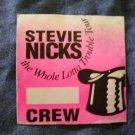 STEVIE NICKS BACKSTAGE PASS Whole Lota Trouble Tour fleetwood mac crew bsp