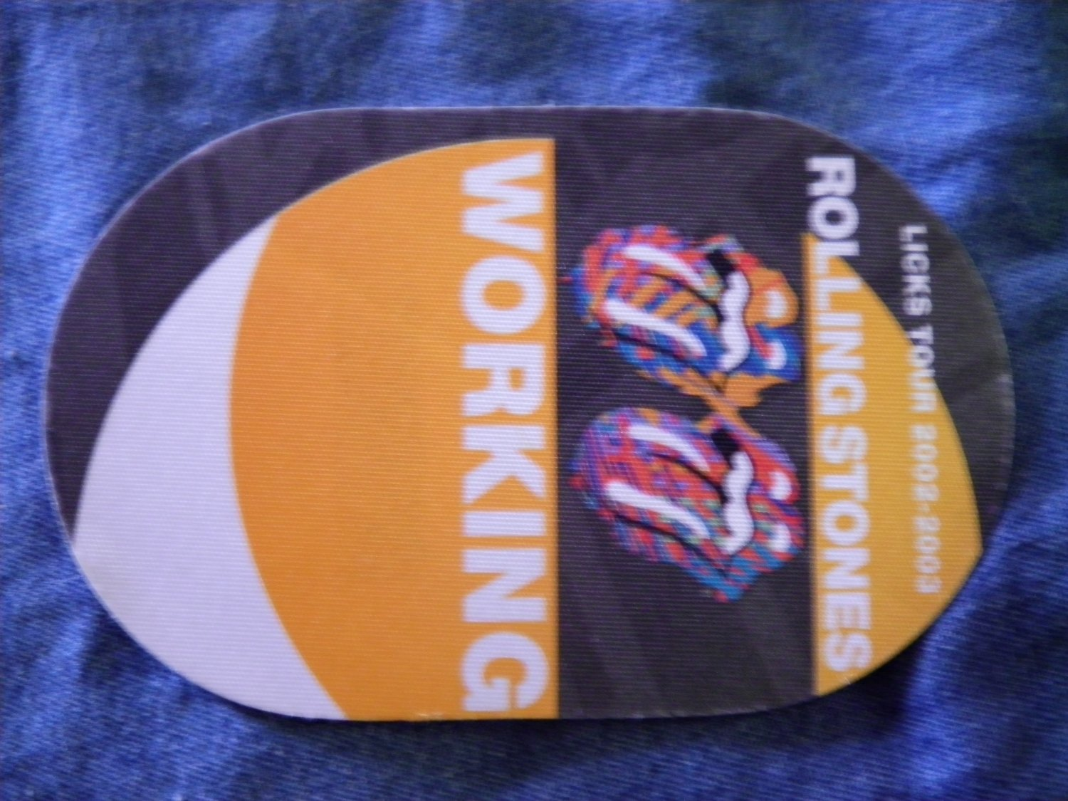 THE ROLLING STONES BACKSTAGE PASS Licks Tour 2002-2003 working bsp
