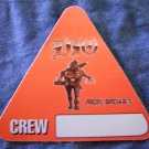 DIO BACKSTAGE PASS Angry Machines ronnie james triangle crew bsp