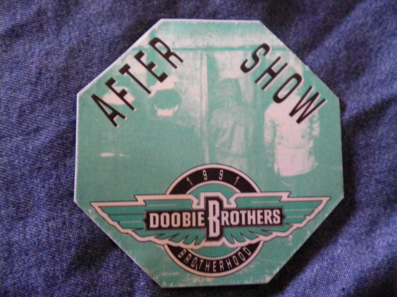 DOOBIE BROTHERS BACKSTAGE PASS 1991 Brotherhood Tour after show bsp