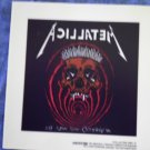 METALLICA DECAL not STICKER In Vertigo You Will Be pushead VINTAGE