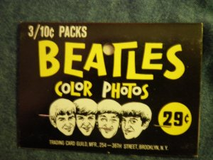 THE BEATLES COLOR PHOTOS rack pack topper trading cards VINTAGE 60s