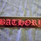 BATHORY STICKER red classic logo