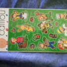 CAILLOU STICKER SET pbs two sheets sandylion import 2003 MIP