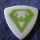 OVERKILL GUITAR PICK Derek Tailer bat wing logo over kill white