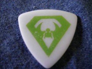 OVERKILL GUITAR PICK Derek Tailer bat wing logo over kill white