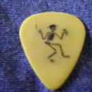 SOCIAL DISTORTION GUITAR PICK skeleton d punk yellow tortex